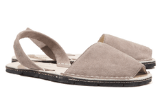 Menorcan Sandals - Grey Suede Unisex - Solillas