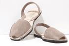 Menorcan Sandals - Grey Suede Unisex - Solillas