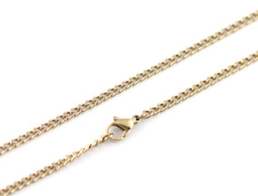 "Curb Chain - 46cm / 18"" GOLD"