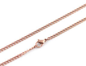 "Curb Chain - 46cm / 18"" ROSE"