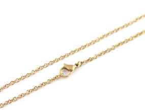 "Cable O Chain - 46cm / 18"" GOLD"