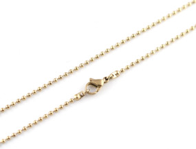 "Ball Chain - 46cm / 18"" GOLD"