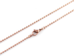"Ball Chain - 75cm / 29.5"" ROSE"