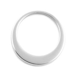 Premium Offset Circle - LRG (35mm) SILVER