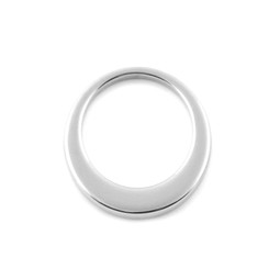 Premium Offset Circle - MED (26mm) SILVER - Stainless Steel