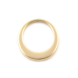 Premium Offset Circle - MED (26mm) GOLD