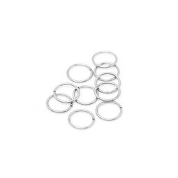 316-JR10S  Jump Ring 10mm Silver