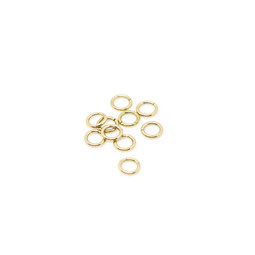 316-JR6G Jump Ring 6mm Gold