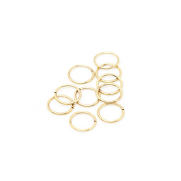 316-JR10G Jump Ring 10mm Gold