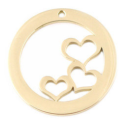 Design Washer Hearts - GOLD