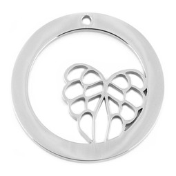 Design Washer Wings - SILVER - Stainless Steel
