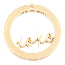Design Washer XOXO - 18ct GOLD Plated - Stainless Steel