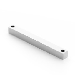 Solid Bar 2 Holes - SILVER