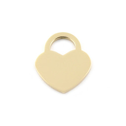 Lock Heart SML - GOLD