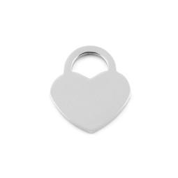 Lock Heart SML - SILVER