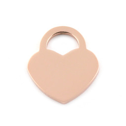 Lock Heart MED - ROSE