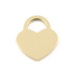 Lock Heart MED - GOLD