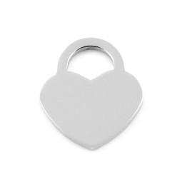 Lock Heart MED - SILVER