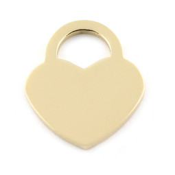 Lock Heart LRG - GOLD