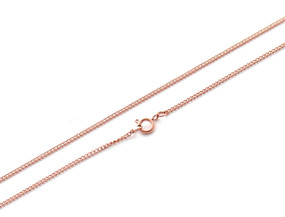 "Curb Chain Fine - 46cm / 18"" ROSE"