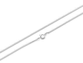 Curb Chain Fine - 46cm SILVER