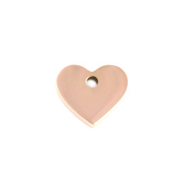 Miniature Charm Heart - ROSE