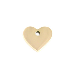 Miniature Charm Heart - GOLD