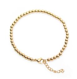 316-BB4G Bead Bracelet 4mm GOLD