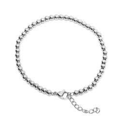 316-BB4S Bead Bracelet 4mm SILVER