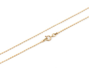 "Ball Chain Fine 46cm 18"" Gold"