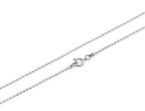 "Ball Chain Fine 61cm 24"" Silver"