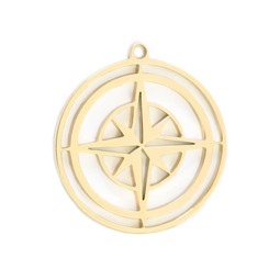 316-MMCCG Create Combine Change Charm Compass GOLD