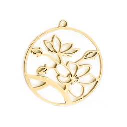 316-MMCFG Create Combine Change Charm Flower GOLD