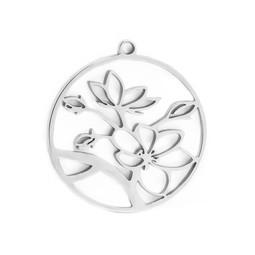316-MMCFS Create Combine Change Charm Flower SILVER