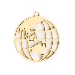 316-MMCGG Create Combine Change Charm Globe GOLD