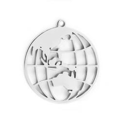 316-MMCGS Create Combine Change Charm Globe SILVER