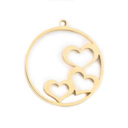 316-MMCHG Create Combine Change Charm Hearts GOLD
