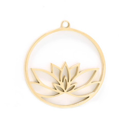 316-MMCLG Create Combine Change Charm Lotus GOLD