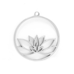 316-MMCLS Create Combine Change Charm Lotus SILVER