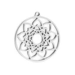 316-MMCMS Create Combine Change Charm Mandala SILVER