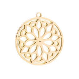 316-MMCCFG Create Combine Change Charm Circle Flower GOLD