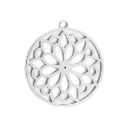 316-MMCCFS Create Combine Change Charm Circle Flower SILVER