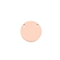 Standard Disc - XSML (15mm) 2 Hole Top ROSE