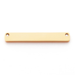 Wide Bar 2 Hole Top - GOLD