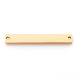 Wide Bar 2 Hole - GOLD
