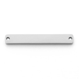 Wide Bar 2 Hole - SILVER