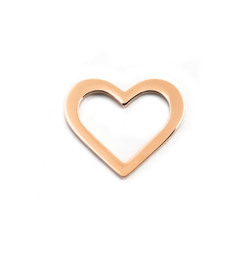 Heart Charm Washer - 18ct ROSE GOLD Plated - Stainless Steel (To be discontinued)