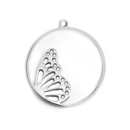 Charm Wing - SILVER - Stainless Steel