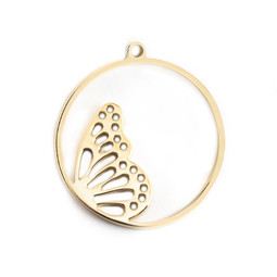 Charm Wing - 18ct GOLD Plated - Stainless Steel