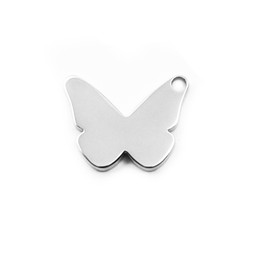 Butterfly Charm - SILVER - Stainless Steel